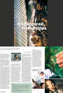 Endangered animal rehabilitation story-Ecuador-Endangered Species Magazine-Ron Levy Photography