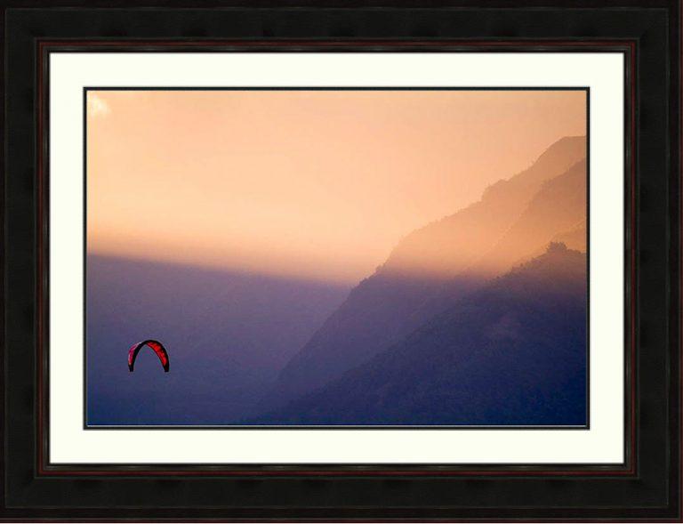 kitesurfer-sunlight-Maui-Hawaii-Ron Levy Photography