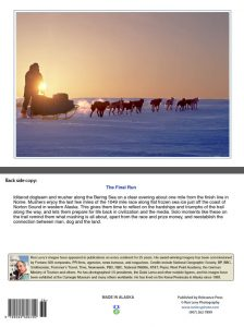 Iditarod musher-dogteam-sunset-Bering Sea-Alaska-notecard-Ron Levy Photography
