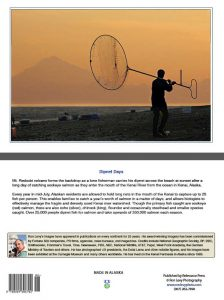 dipnet-fisherman-sunset=Mt. Redoubt-Alaska-notecard-Ron Levy Photography