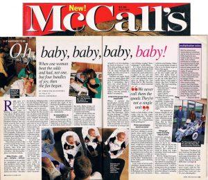 McCalls article-quadruplets-Alaska-Ron Levy Photography