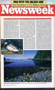 Newsweek_article-Exxon Valdez-oil-spill-Alaska-Ron Levy Photography
