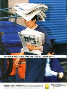 Asian-woman-delivering-newspapers-Singapore-Der Spiegel magazine-Ron Levy Photography