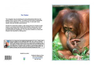 orangutan-finger-in-nose-Borneo-notecard-Ron Levy Photography