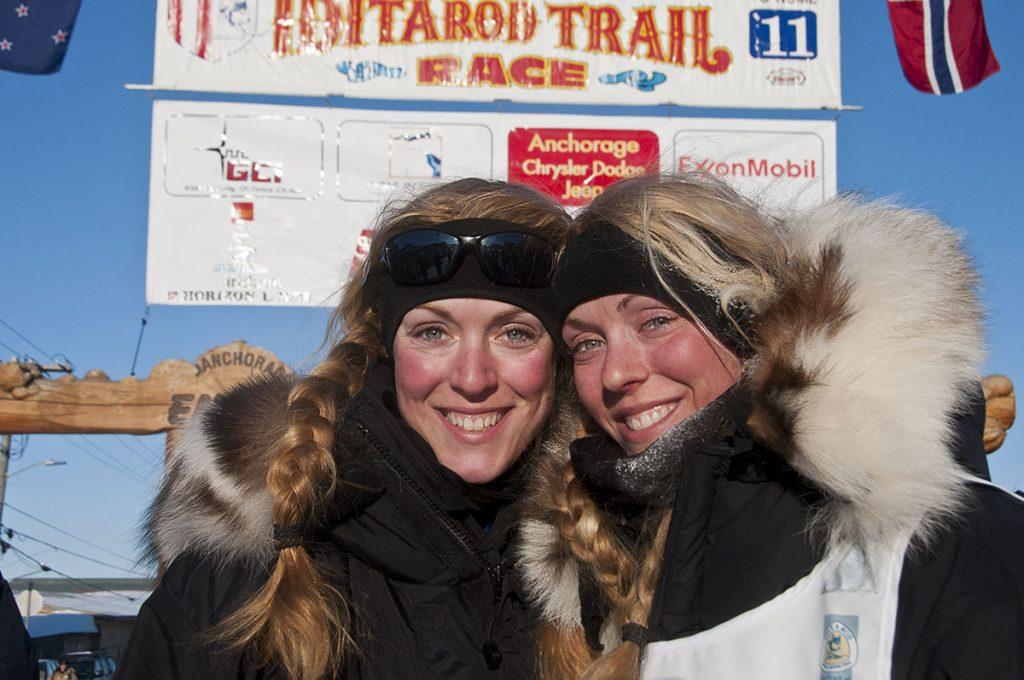 Anna & Kristy Berington twin mushers- Iditarod 2011, Alaska, Ron Levy Photography