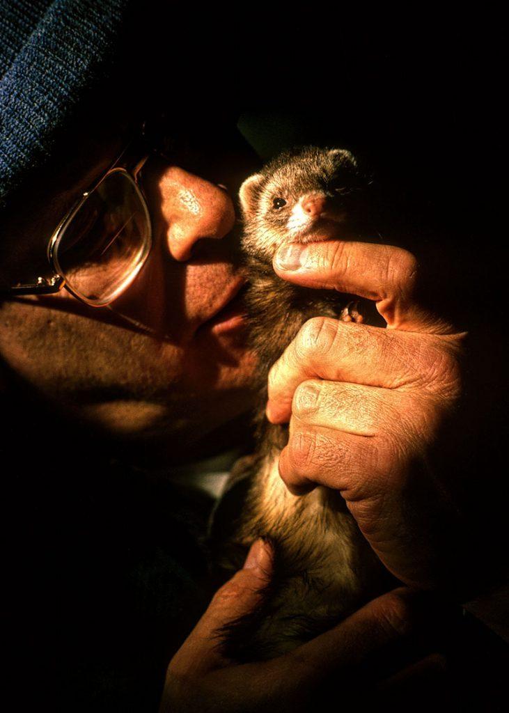 ferret and owner bond, Alaska