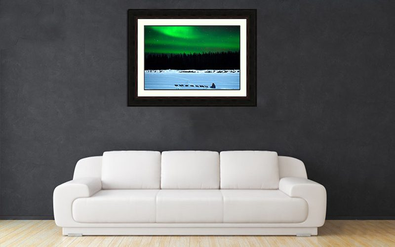 couch-print-Iditarod-Aurora-Ron Levy Photography